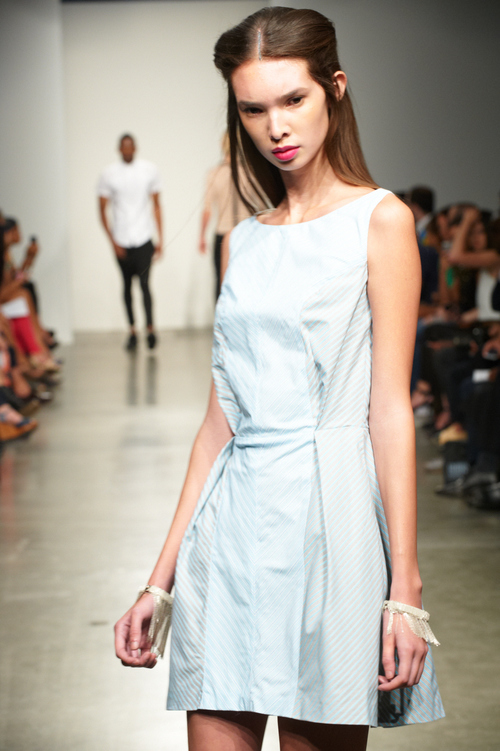 BCS100 AND BCS101 IN GREY LINE MAP BY MIGUEL PEÑA SPRING 2014 RUNWAY SHOW NYFW PIER 59