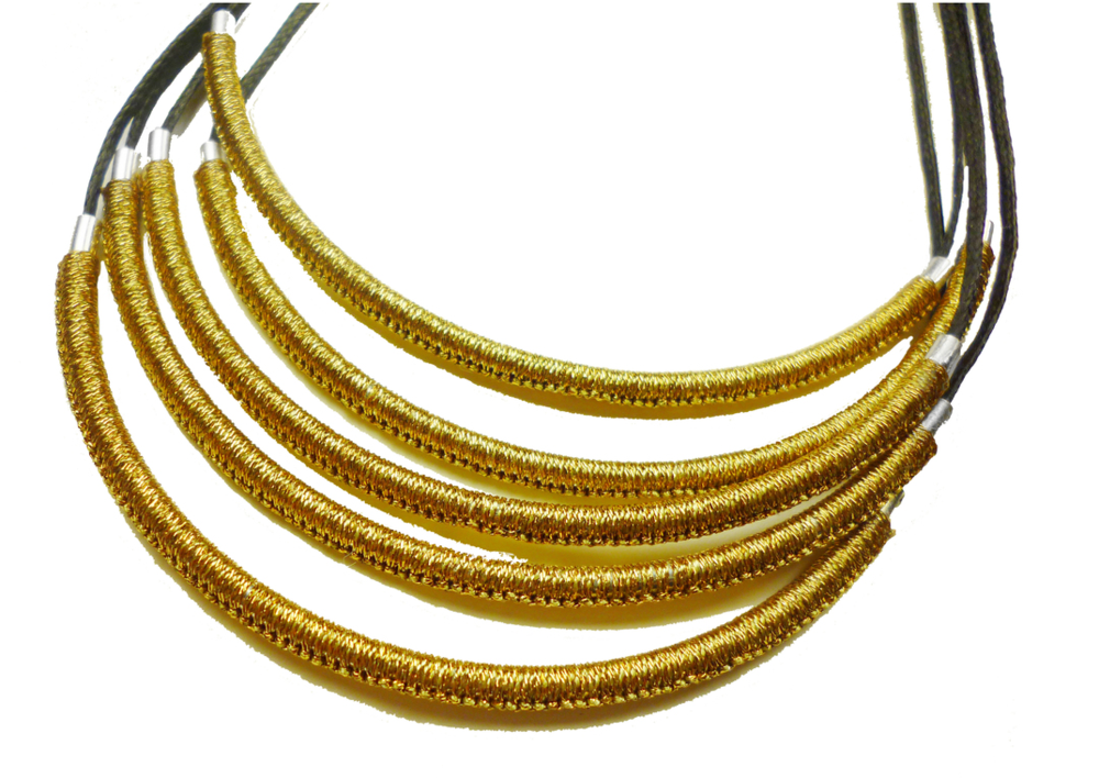 $660.00 NPR1 FIVE STRAND STERLING SILVER HAND WOVEN CURVED CYLINDERS