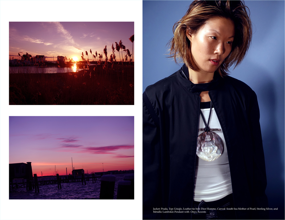 Model: Riji Suh, Photographer, Stylist, Jewelry, Art Direction, and Design Direction: Simon Alcantara, Post Production: Maxmillion Rosario, Produced by Creative Collective Col-LAB