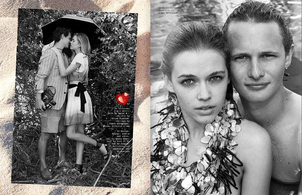 VISUAL TALES MAGAZINES VT 15 SHOT BY ARTHUR ELGORT, STYLED BY JOHN TAN, MODELS WARREN ELGORT AND VICTORIA LEE. JEWELRY SIMON ALCANTARA CLICK IMAGE TO PURCHASE JEWELRY