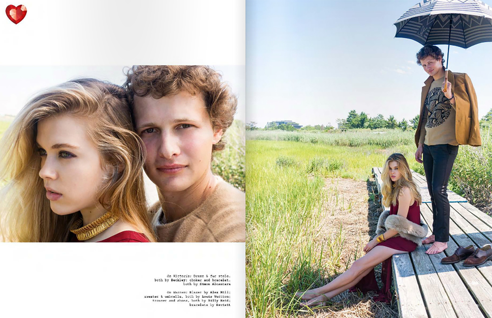VISUAL TALES MAGAZINES VT 15 SHOT BY ARTHUR ELGORT, STYLED BY JOHN TAN, MODELS WARREN ELGORT AND VICTORIA LEE. JEWELRY SIMON ALCANTARA