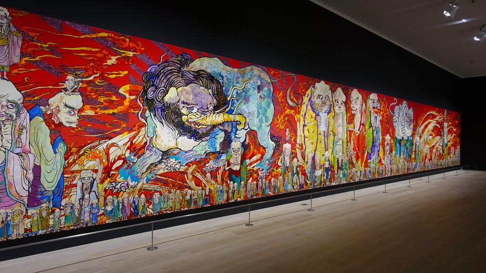 Murakami The 500 Arhats, Mori Museum Tokyo 4 .jpg