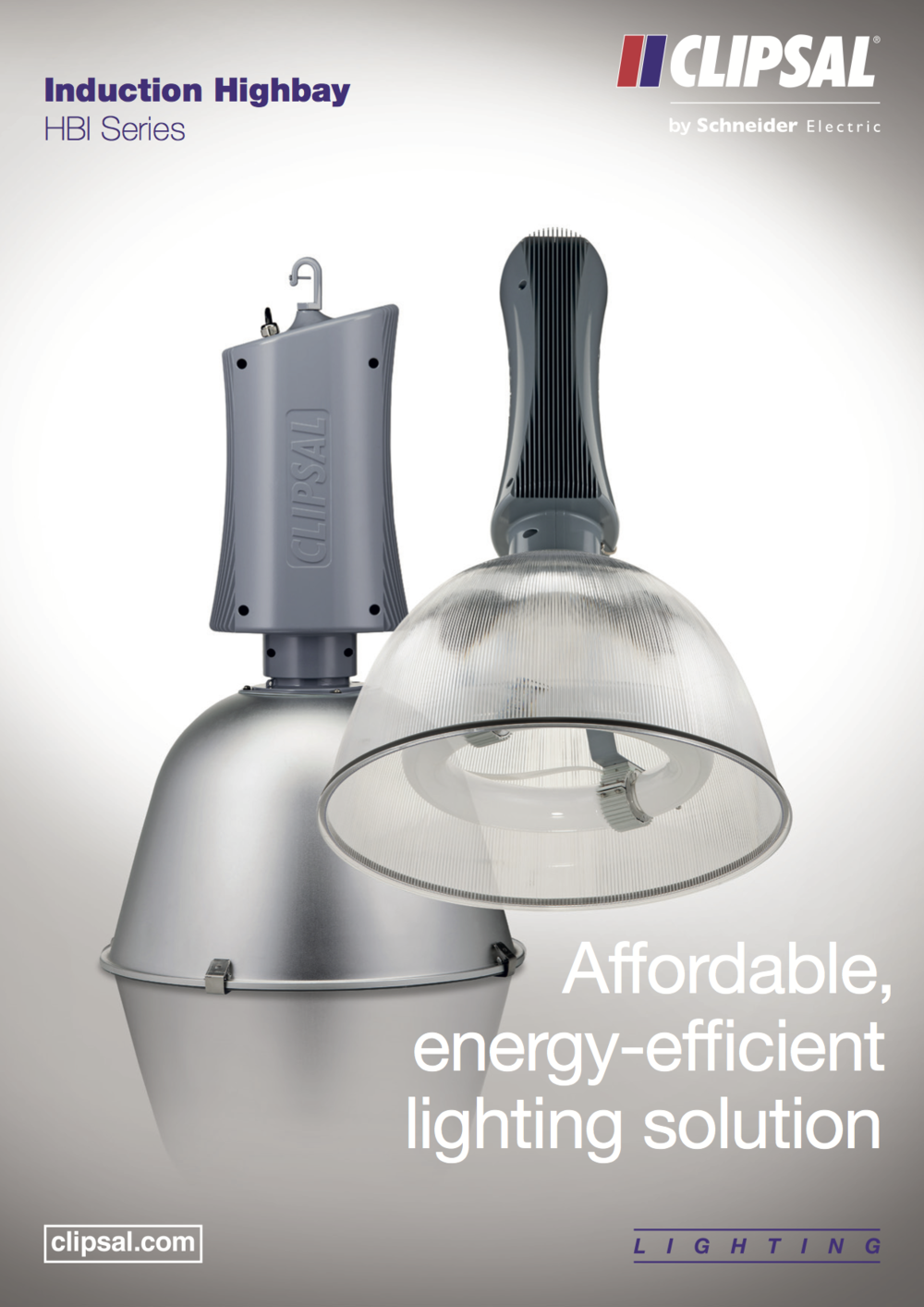 HBI Series Induction Highbay. Affordable, energy-efficient lighting solution.  Click to view brochure.