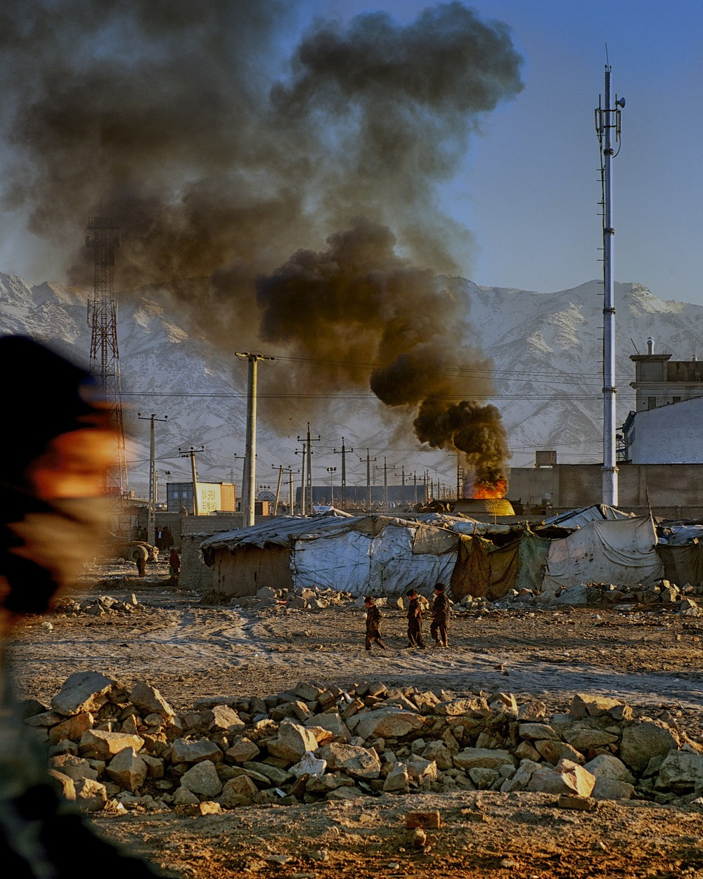 slum outside of kabul, afganistan