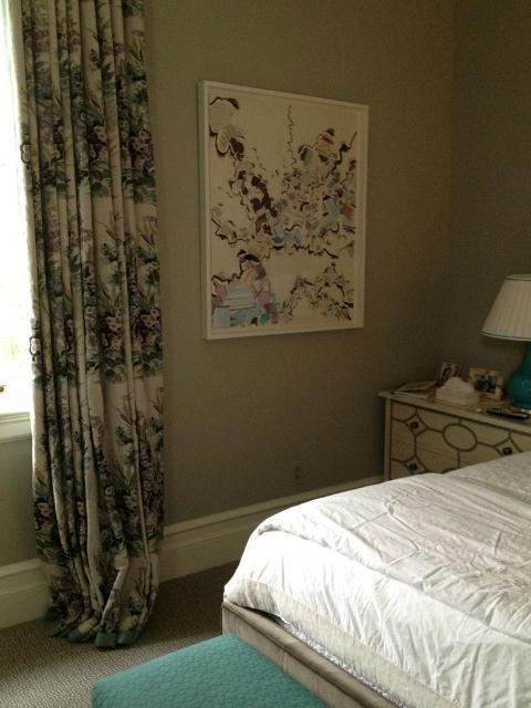 c ollage in master bedroom