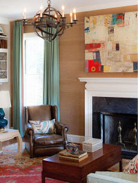 family room by barrie with chris hayman painting over mantle