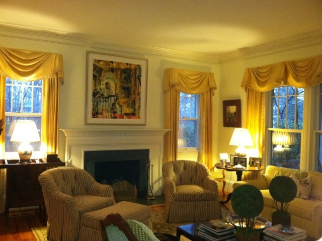 page laughlin painting looked as if it was made for this lovely living room