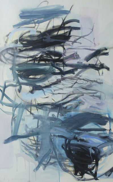 places and things  oil, gouache + charcoal on canvas  48 x 24 inches