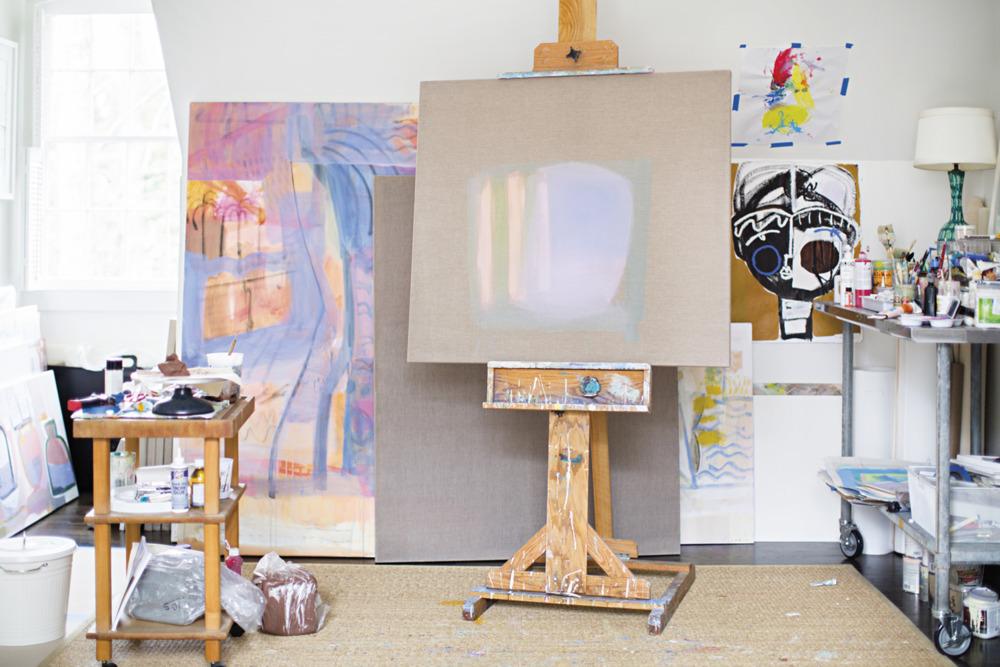 Domino magazine sally king benedict hidell brooks gallery - Home art studio furniture ...