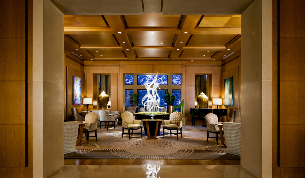 the lobby at the umstead