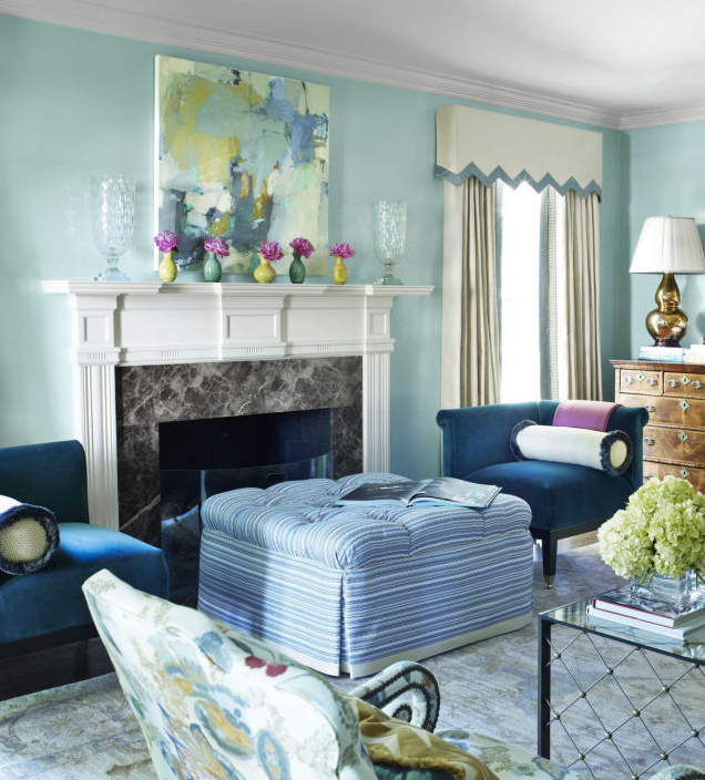 painting by jenny nelson in march issue house beautiful magazine interior design by lindsey coral harper