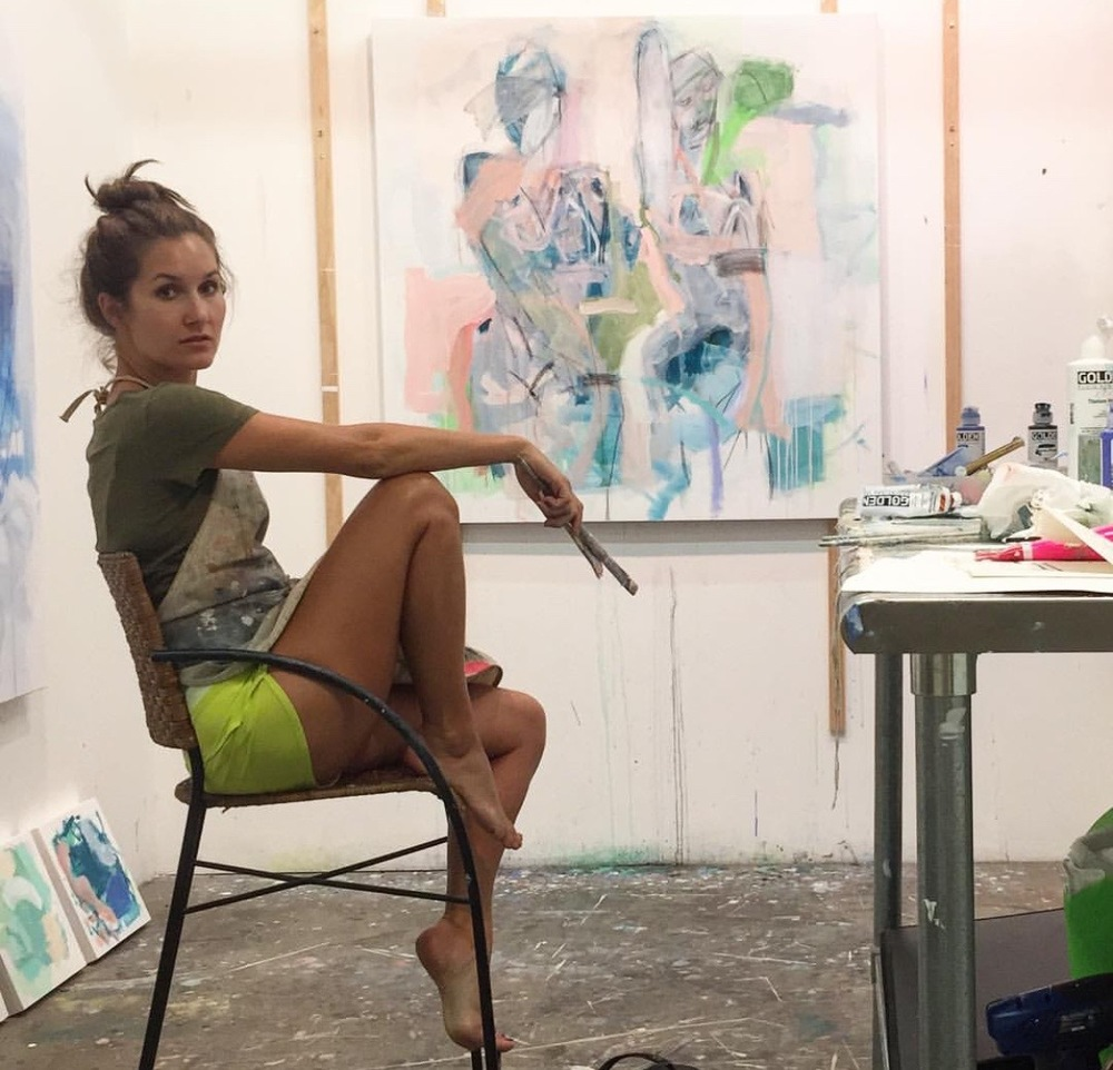 kate in her studio in charleston, sc