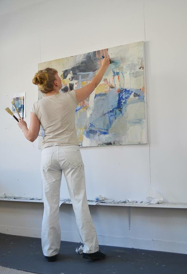 jenny nelson  is busy painting for her solo exhibition this spring