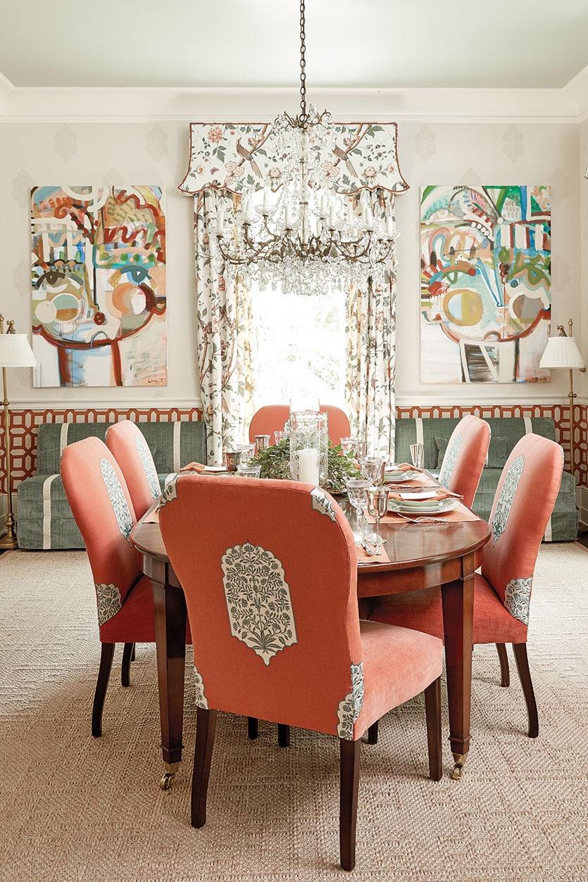 dining room by  margaret kirkland interiors
