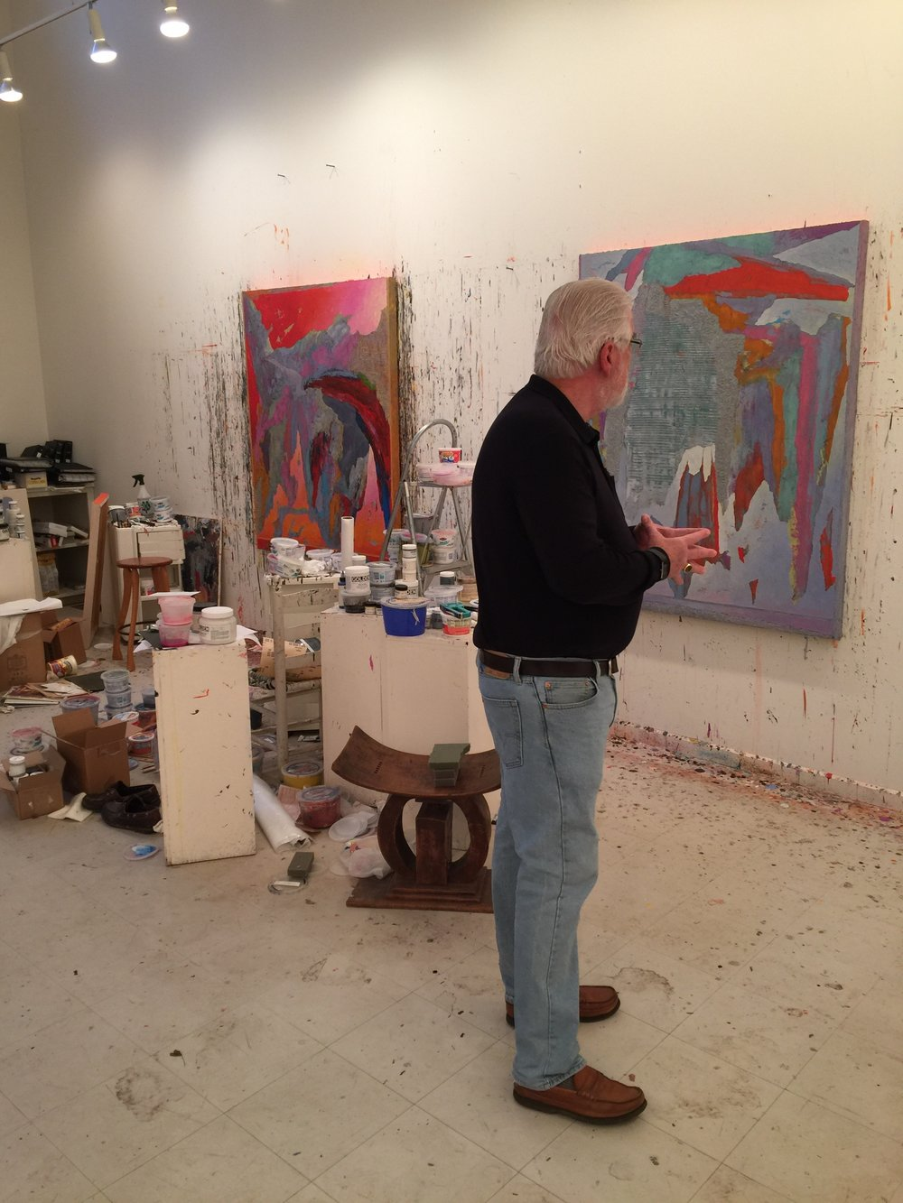 herb jackson in his studio in davidson, nc
