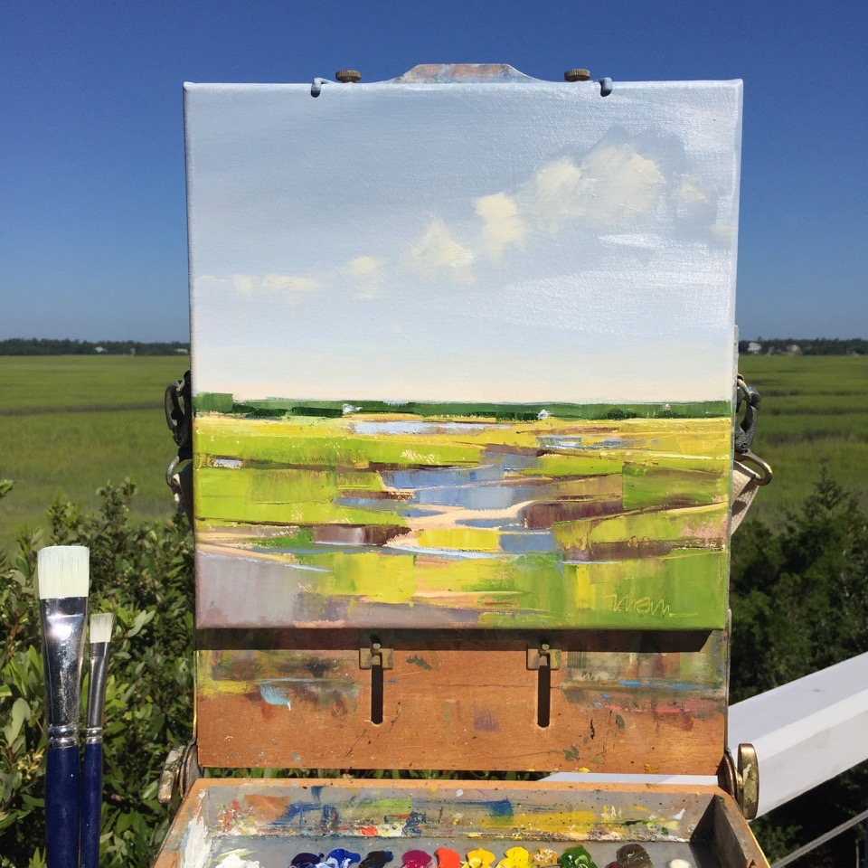 smaller works are painted en plein air