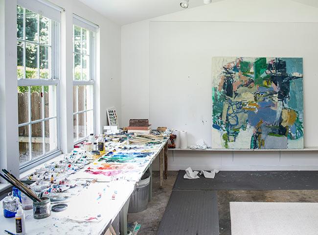 jenny nelson's studio in woodstock, ny