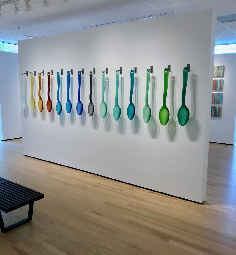 cast glass spoons by rick beck