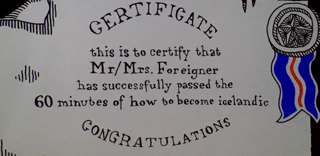 My personal certificate!