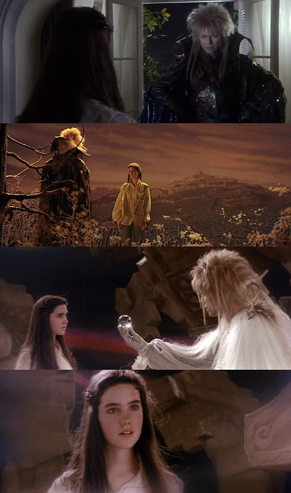 shutupshayla: moviesinframes: Labyrinth, 1986 (dir. Jim Henson) via beyondthegoblincity [more Labyrinth here]