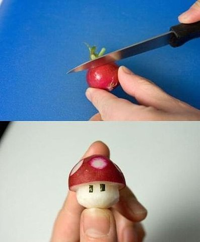 rikosuavez :      michaelnus :     Awesome!    laurenonizzle :     A newfound appreciation for radishes. Thanks 4chan.       I want to make one!