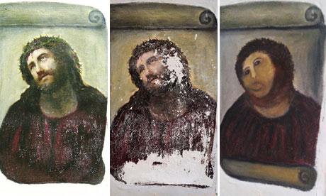 The Ecce Homo incident was made for the Internet. Here a group from BBH London created this site where you can 'restore your own picture' and add it to the gallery. Love it. (via Restore your own Ecce Homo!)