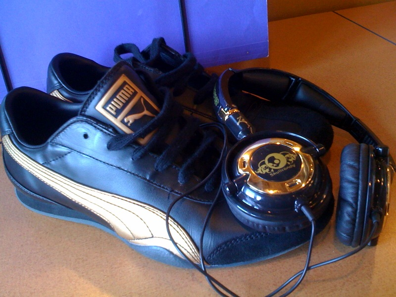 My new kicks match my headphones… ha!