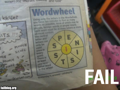 Wordwheel Fail « FAIL Blog: Pictures and Videos of Owned, Pwnd and Fail Moments