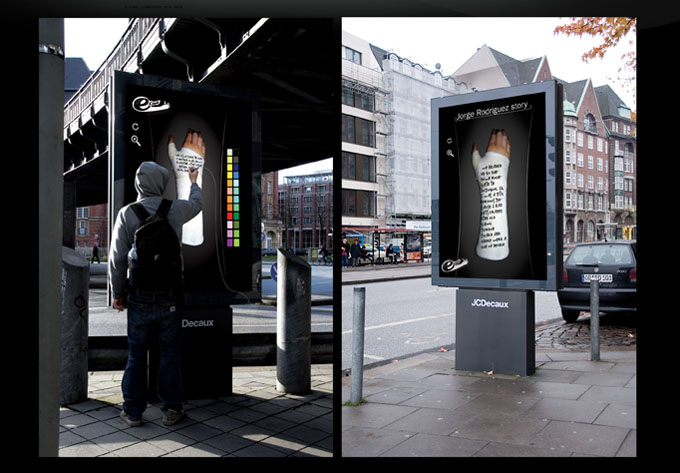 thecoolhunter.net - Interactive Sharpie e-cast Billboard
