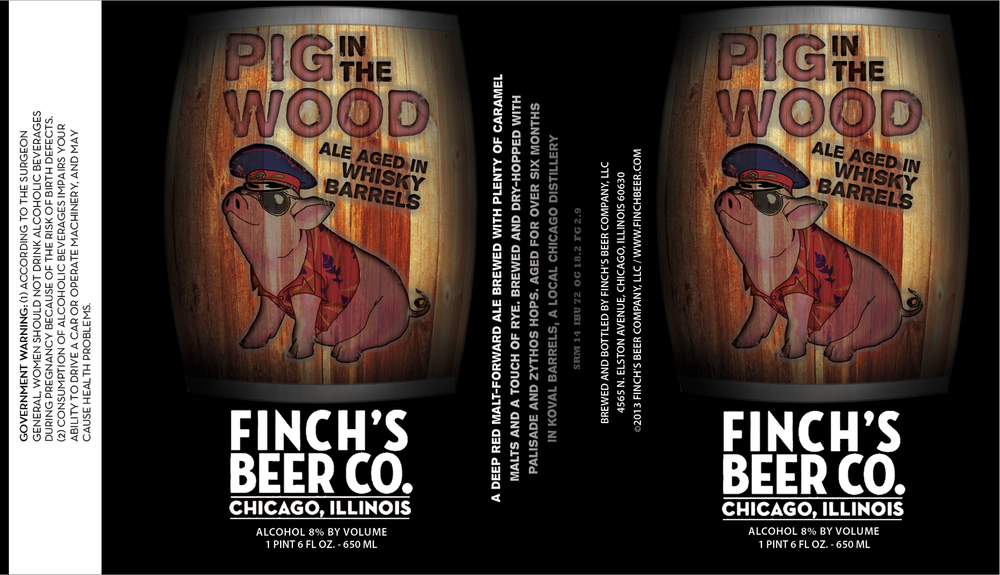 Finch Beer Co. Pig in the Wood