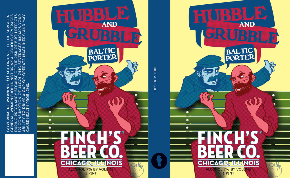 Hubble and Grubble Baltic Porter label design by Gaelan Kelly