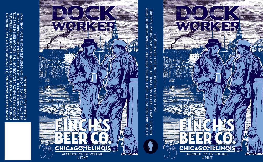 Dock Worker label design by Gaelan Kelly