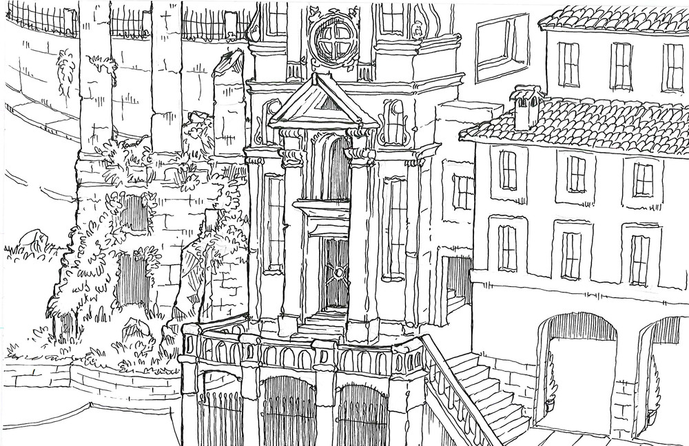 Rome has ruins.  Find this image, win this drawing!