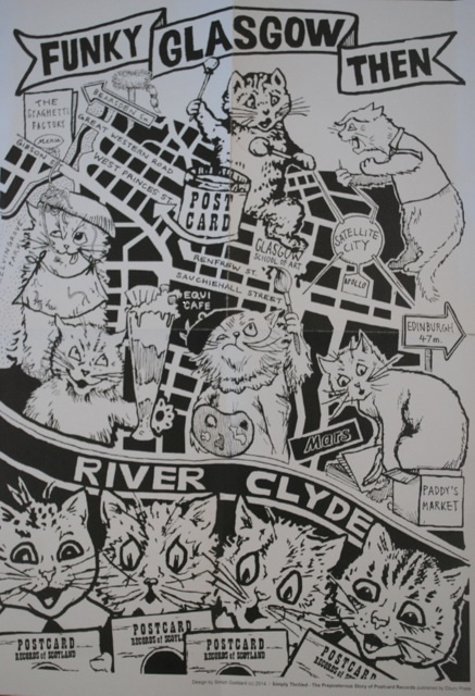 ' Funky Glasgow Then' map - a Record Store Day exclusive