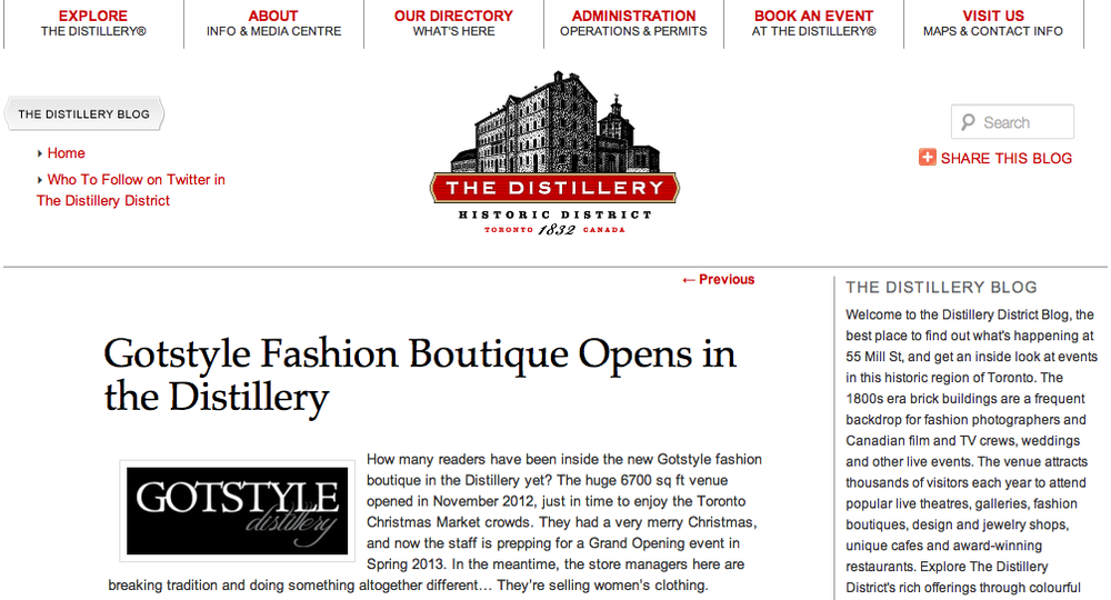 Gotstyle Distillery on The Distillery District Blog