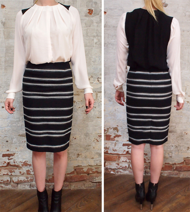 Malene Birger Tidra shirt $325. Malene Birger skirt $290.