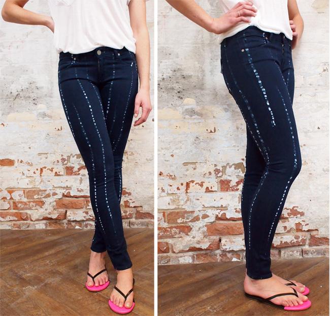 Paige Vergudo Batik jeans $258.