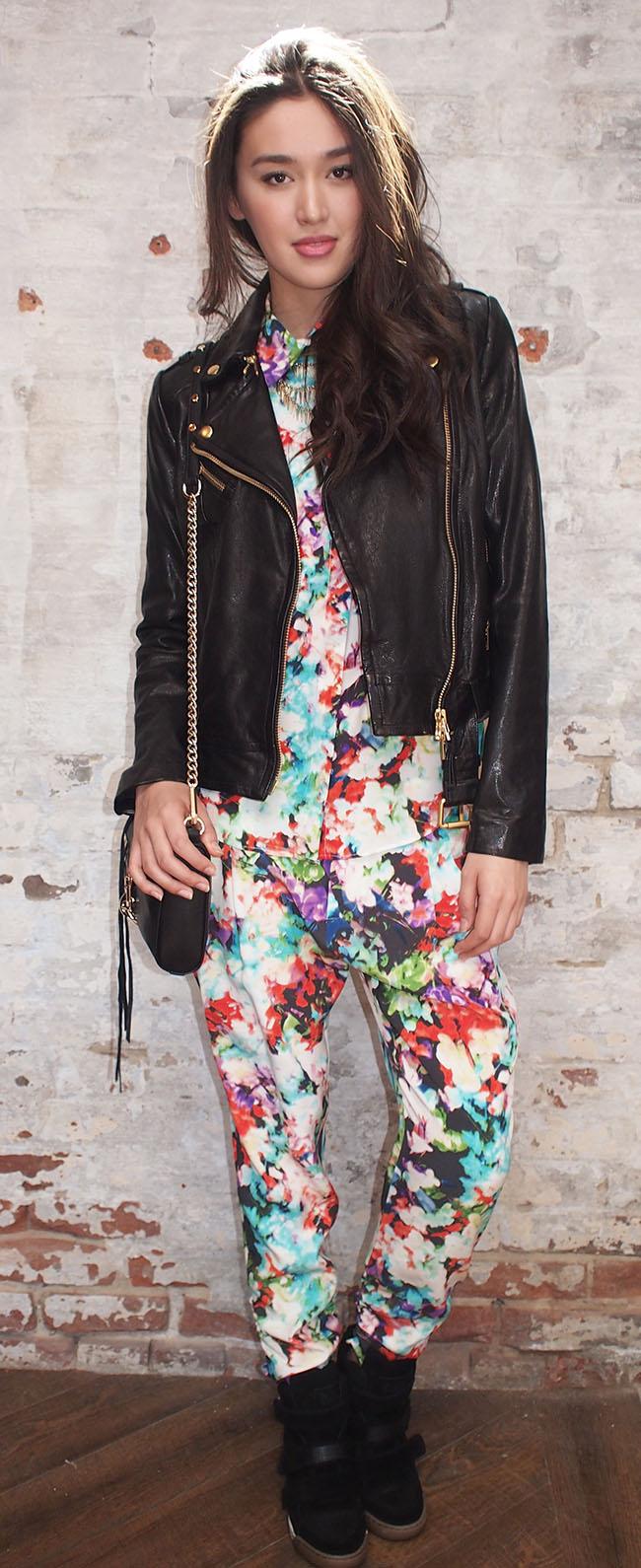 Parker silk floral pants $265.