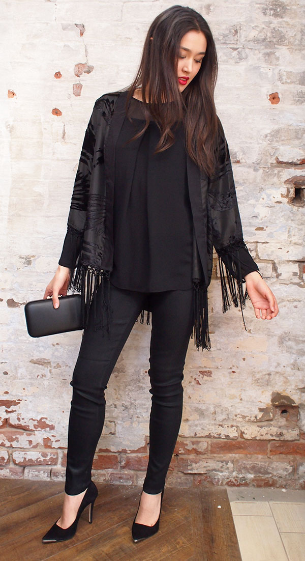 Religion jacket $219,jbrand jeans $245,Malene Birger blouse $325,Ganni pump $299