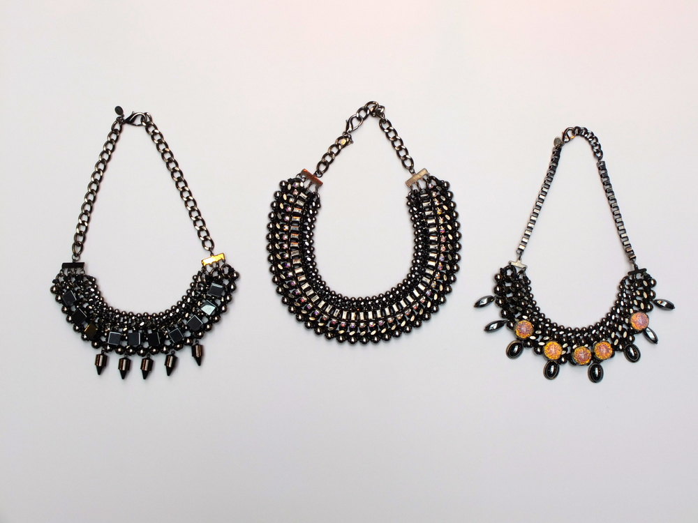 Predator Necklace $214, Cherish Necklace $258, Fever Necklace $218