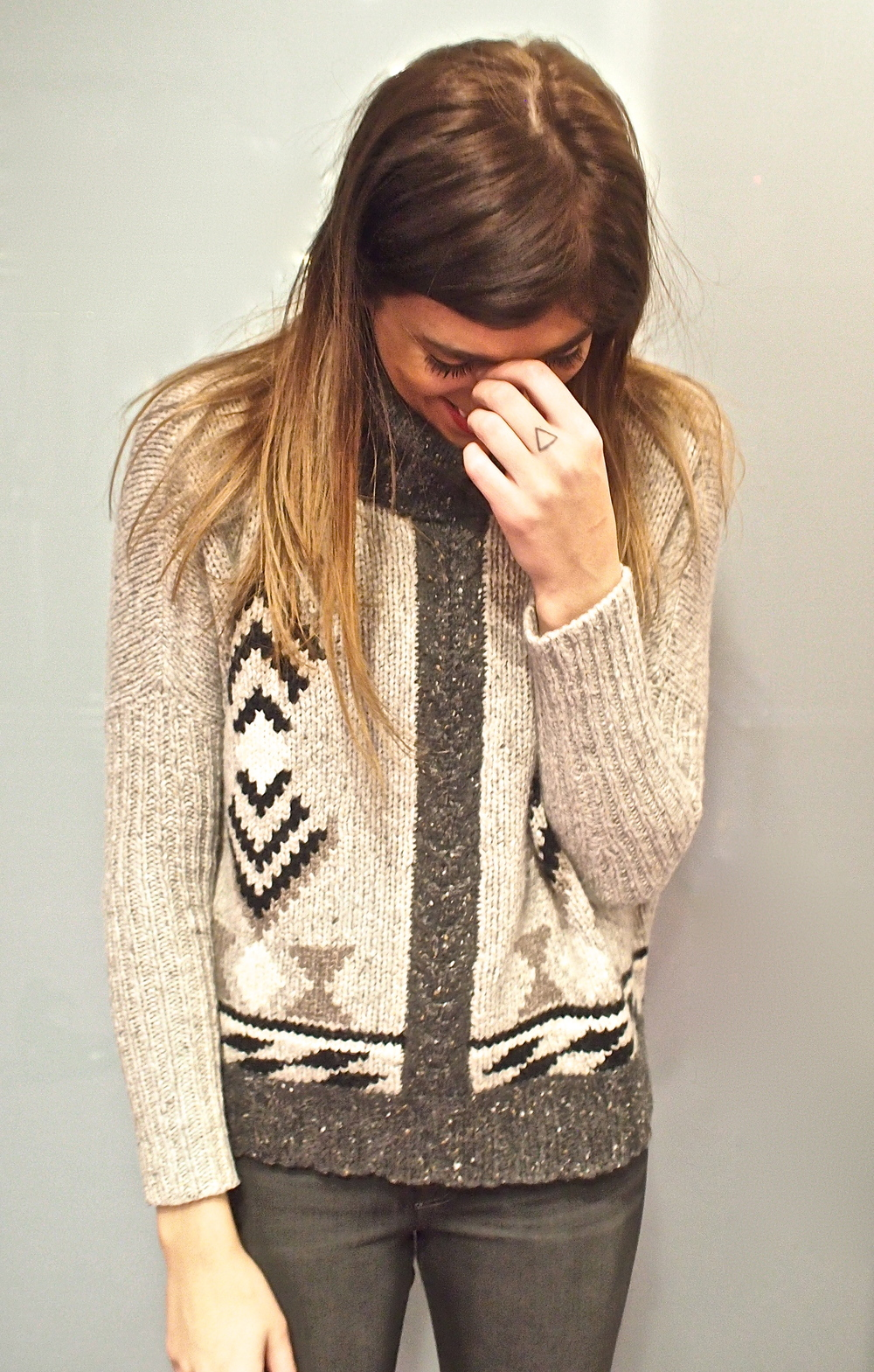 Autumn Cashmere - Southwest Sweater $525, JBrand Skinny Jean $269
