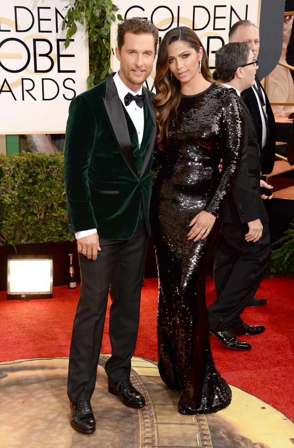 Mathew McConaughey and wife Camila Alves look fabulous in Dior.