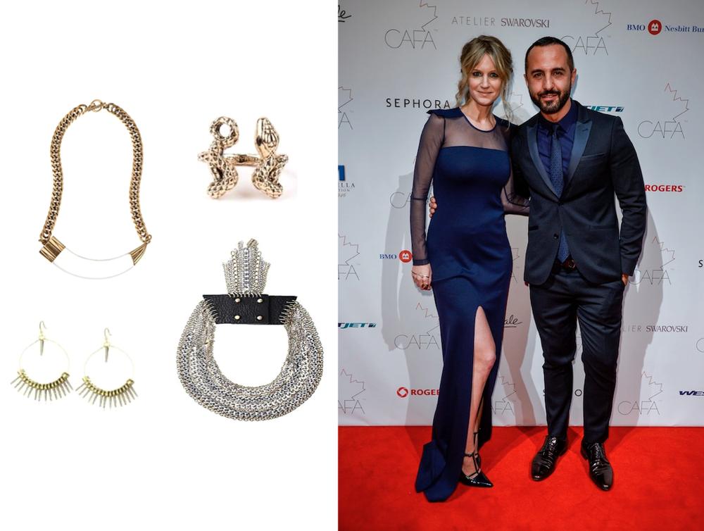 Jenny Bird- Hark Horn Necklace $225            Serpent Ring $60           Yin Spike Earrings $65            Stella Necklace $225