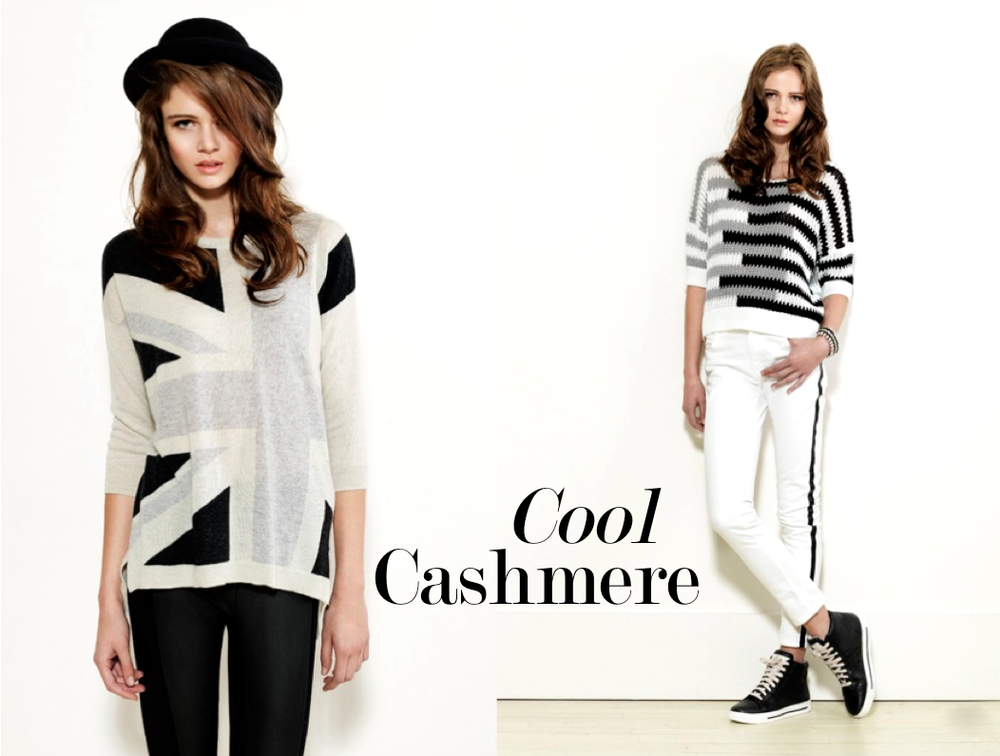 Autumn Cashmere Union Jack Sweater - Grey $340 Autumn Cashmere Geometric Stripe Sweater $210
