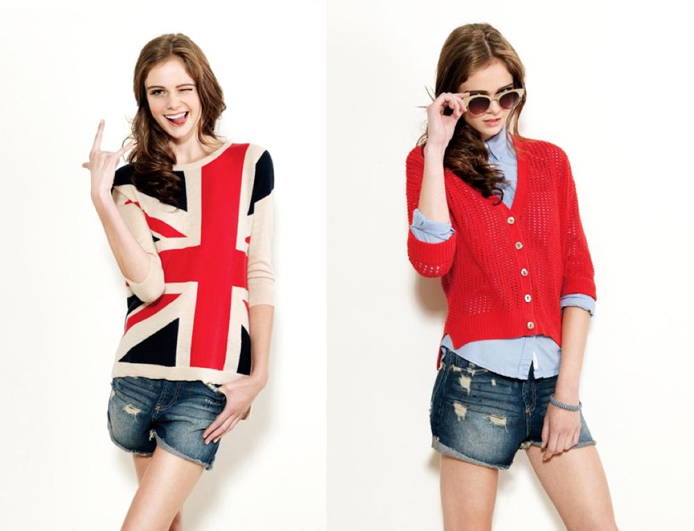 Autumn Cashmere Union Jack Sweater - Red $340 Autumn Cashmere Crochet Cardigan - Red $210