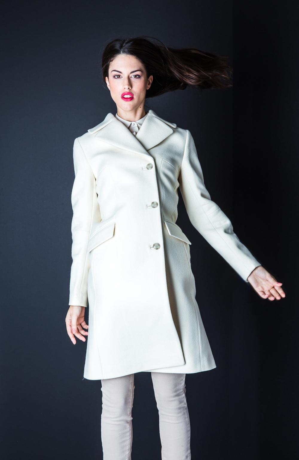 Featuring J.Lindeberg Gigi Twill Melton Jacket $609, Paige Denim Edgemont Ultra Skinny Jeans $309