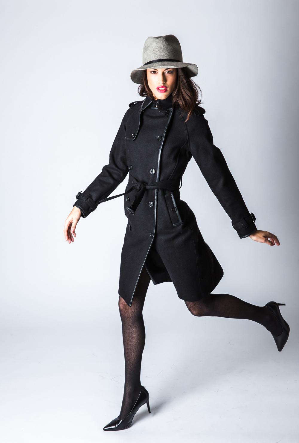 Featuring J.Lindeberg Deidra Smooth Wool Melton Jacket $695