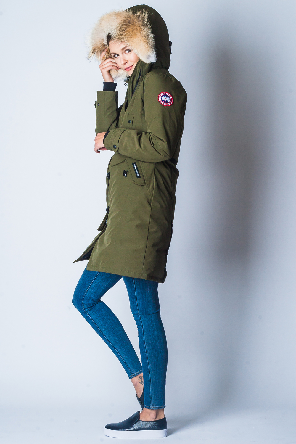 Canada Goose Kensington Parka, 625 Fill, Coyote Fur Ruff $745 (ALSO AVAILABLE IN BLACK)