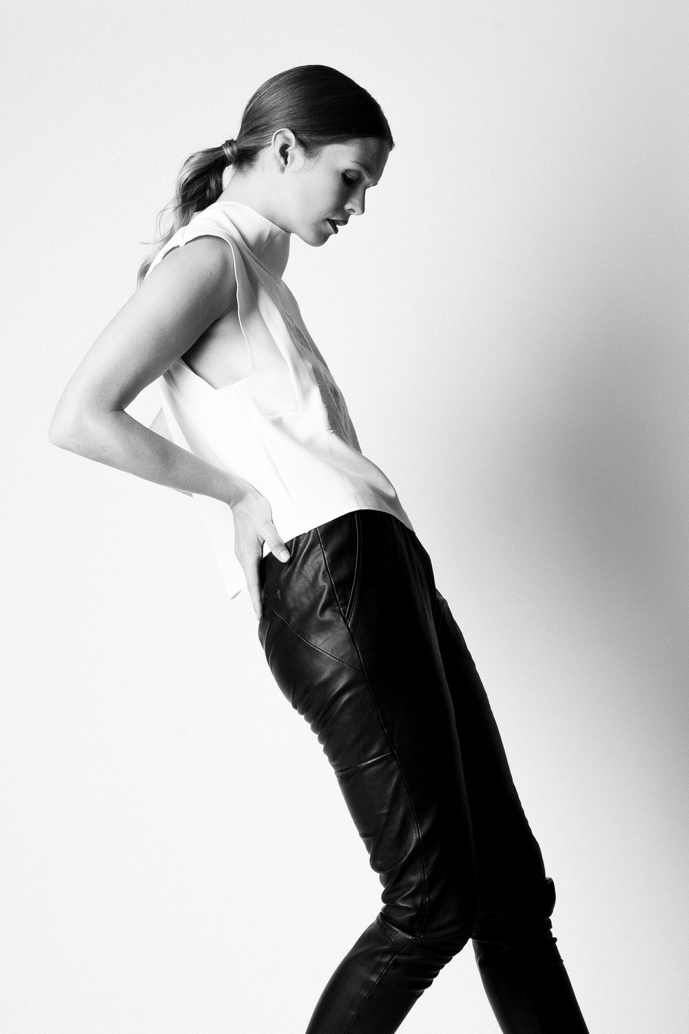 Featuring Designers Remix Leather Jogger Pant $608, Cameo Uprising Embroidered Top $165