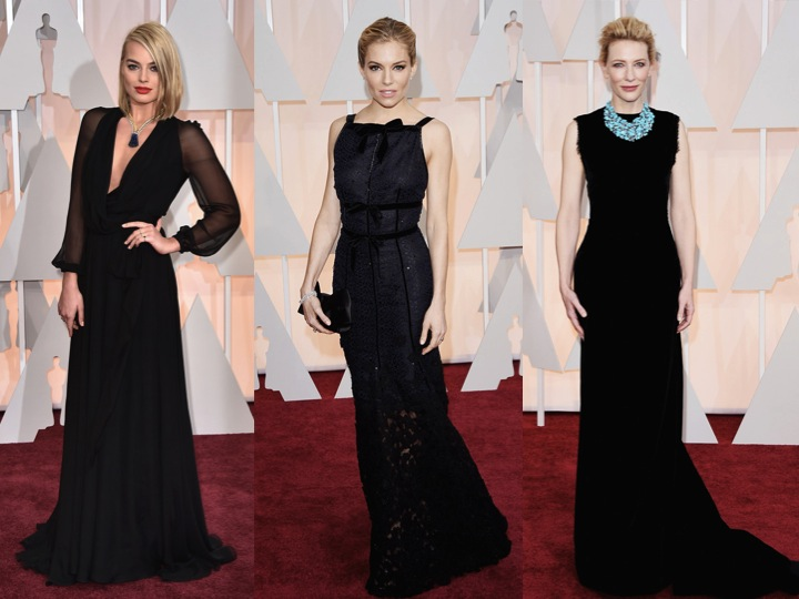 Oscars-black-redcarpet-2015-margot-sienna-cate